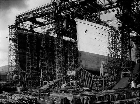 Titanic en construccion